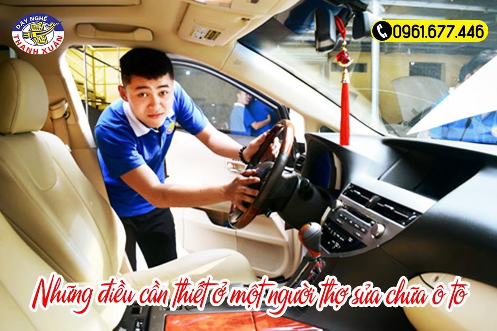 Những điều cần thiết ở một người thợ sửa chữa ô tô
