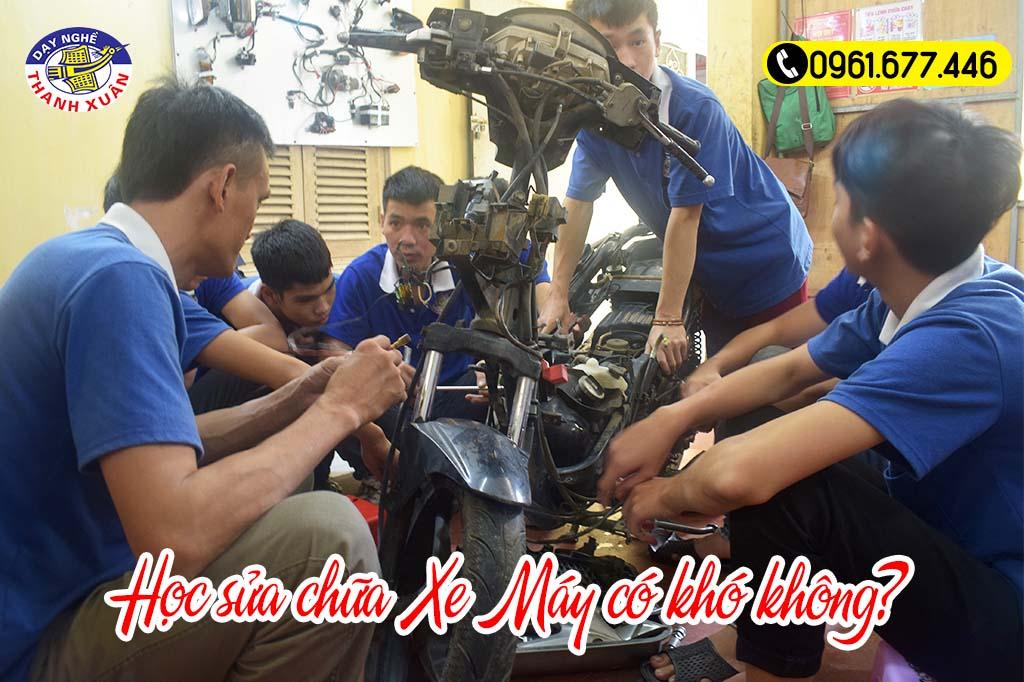 Học nghề sửa xe máy có khó không?