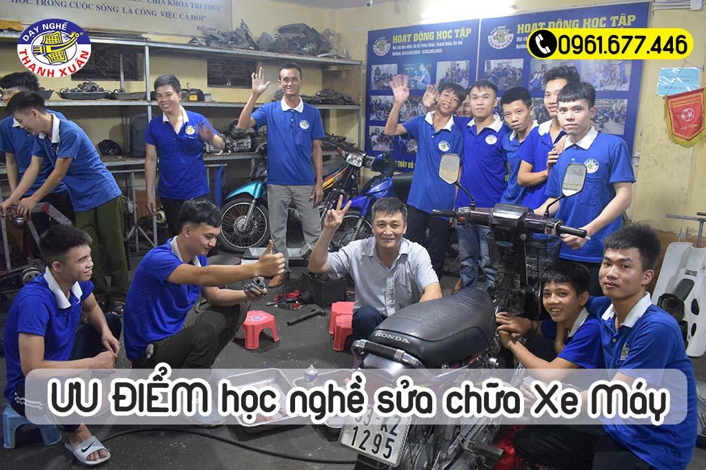 Ưu điểm khóa học nghề sửa chữa xe máy